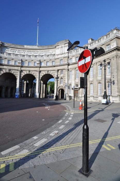 Admiralty Arch - Trafalgar Square side