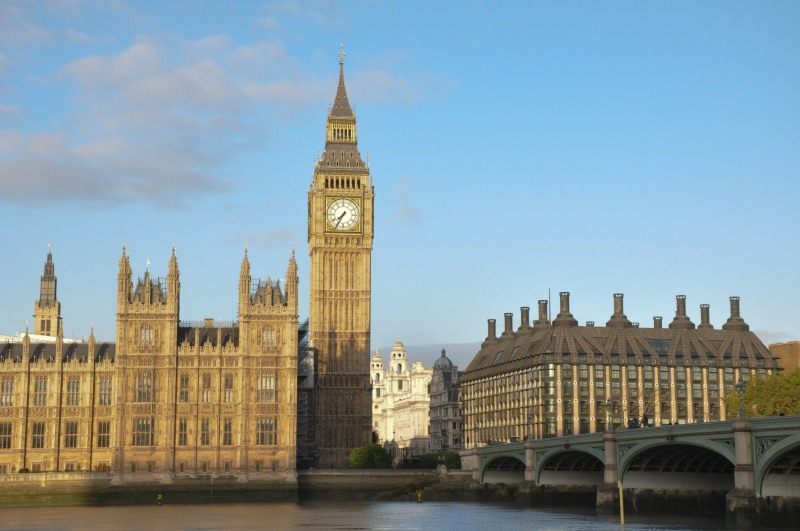 Big Ben and Portcullis house from Albert Embankment