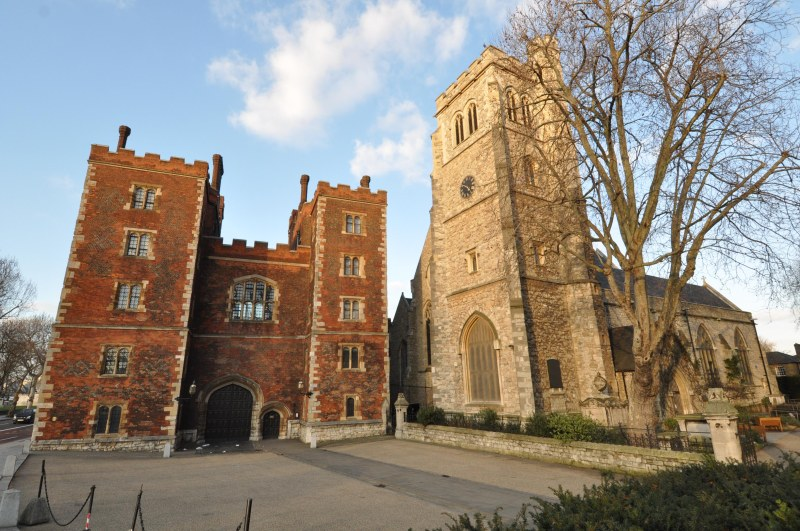 Lambeth Palace Entrance (Morton's Tower) Museum of Garden History (housed in the church of St Mary-at-Lambeth)