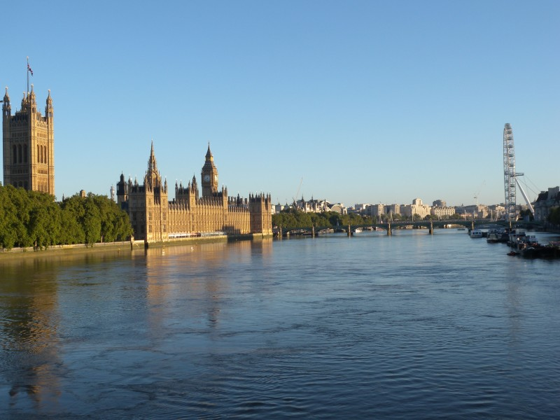 River View from Lambeth Bridge - looking east - Morning