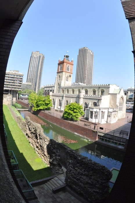 St Giles Church and Barbican from the South