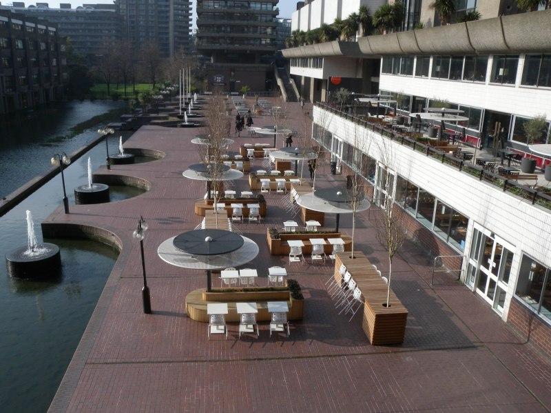 Outside Barbican Art Centre