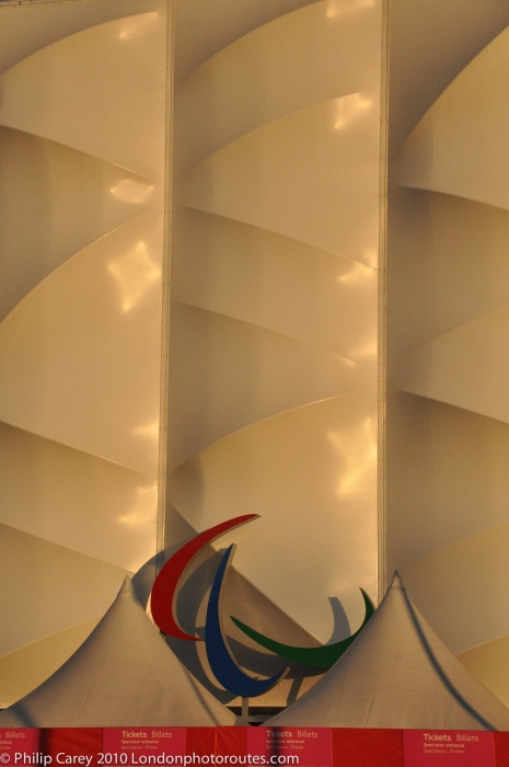 Paralympics sign on Basketball Arena