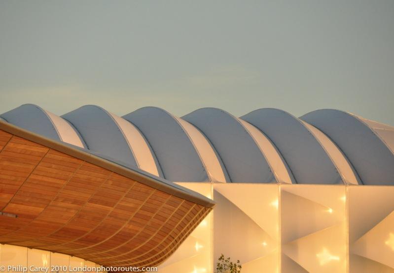 basketball arena and velodrome detail shot