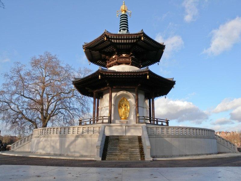 Nipponzan Myohoji Peace Pagoda - Winter morning View