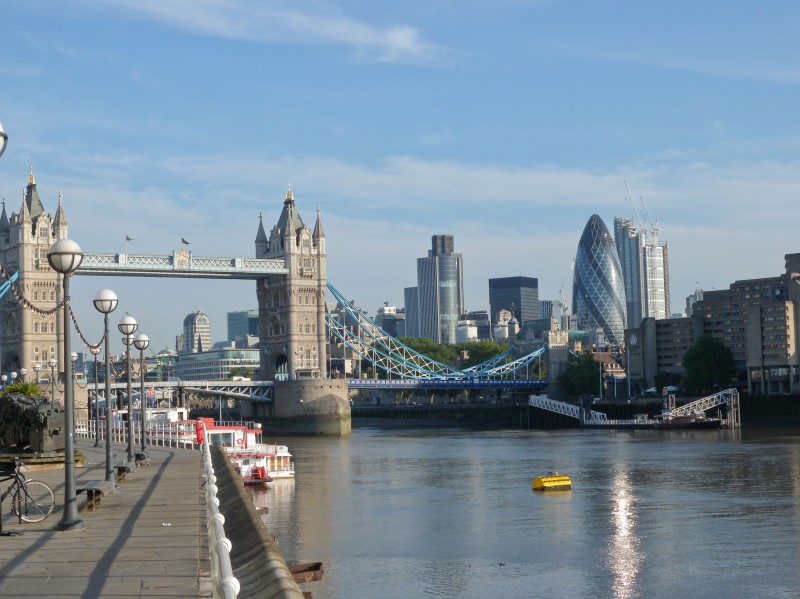 View towards City of London from Butlers Wharf