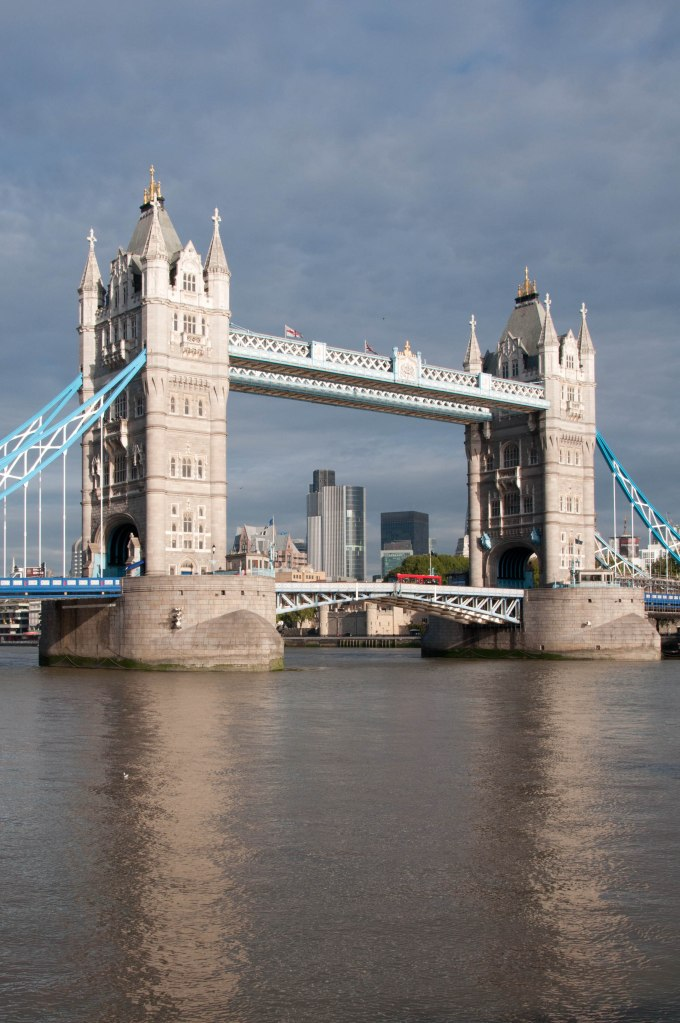 Tower Bridge - with city in background