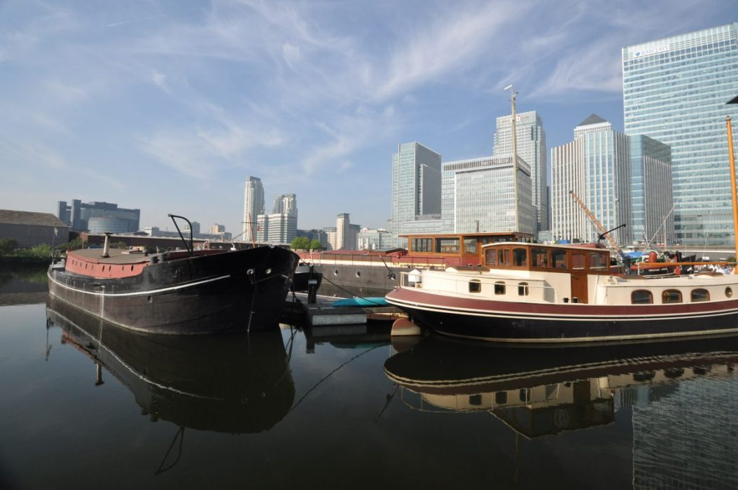 London Runs and Photo Routes - Canary Wharf from Poplar Dock