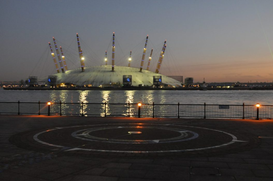London Runs and Photo Routes - Dome at Dusk from Blackwall