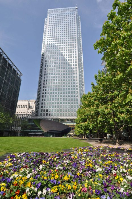 London Runs and Photo Routes Canada Square Park