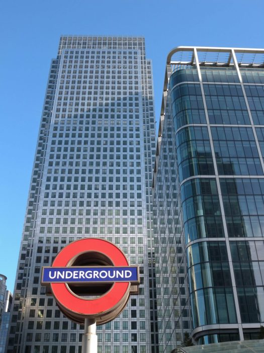 London Runs and Photo Routes - Tube on Canary Wharf