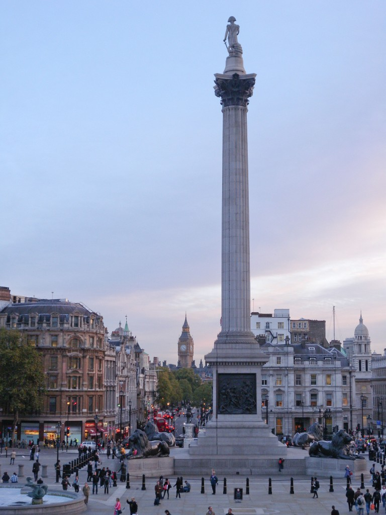 Nelsons Column - from National Gallery