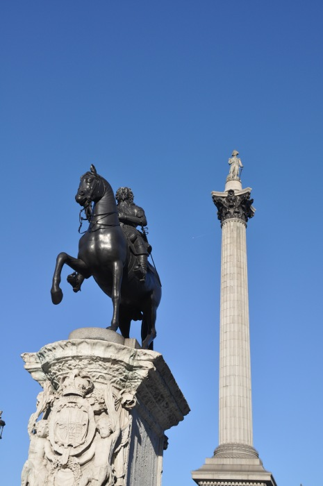 Nelsons Column - and King Charles Statue alternate view