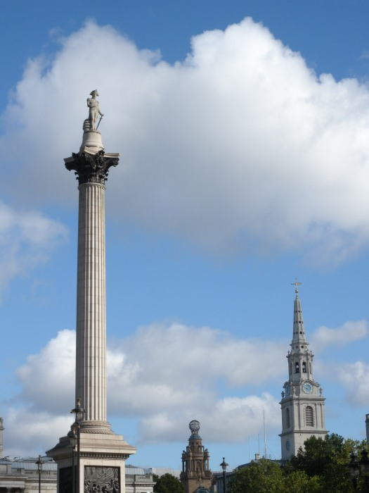 Nelsons Column -with St Martins from near Admiralty Arch