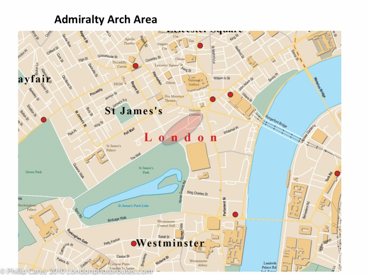 admiralty arch_map