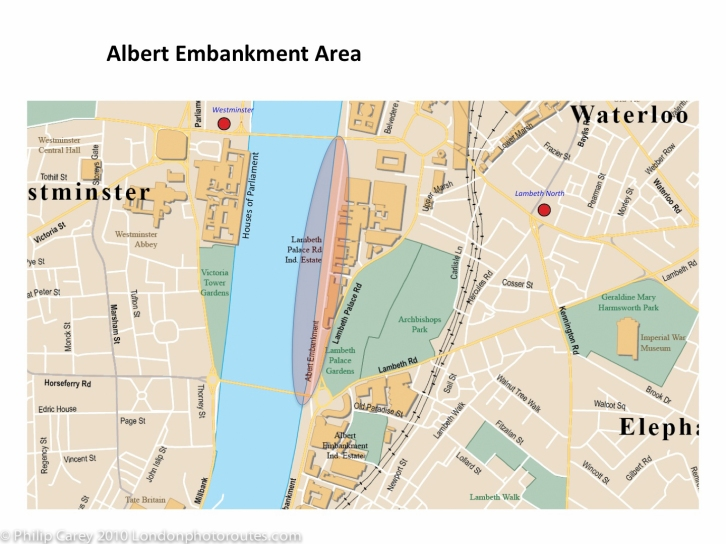 Albert embankment map