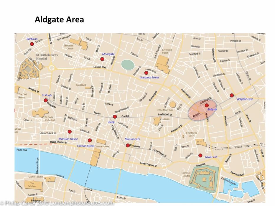 aldgate map