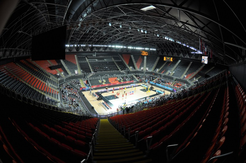 Wide angle view of Arena