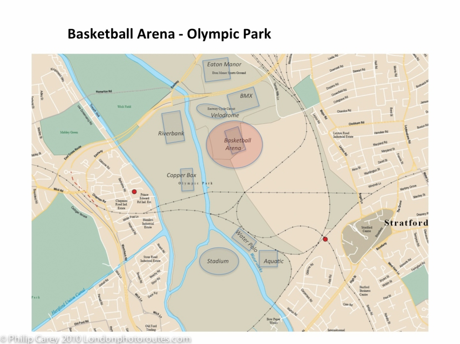 basketball arena map