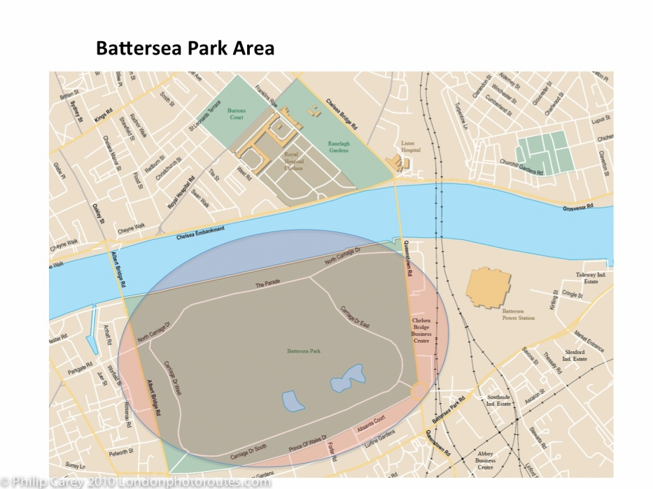 battersea park map