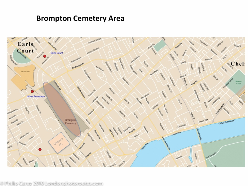 Brompton cemetery map