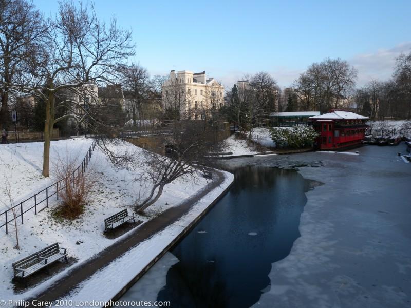 Regents Canal by Regents Park - Winter