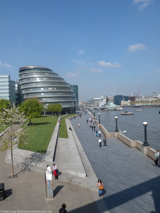 City Hall from Tower Bridge