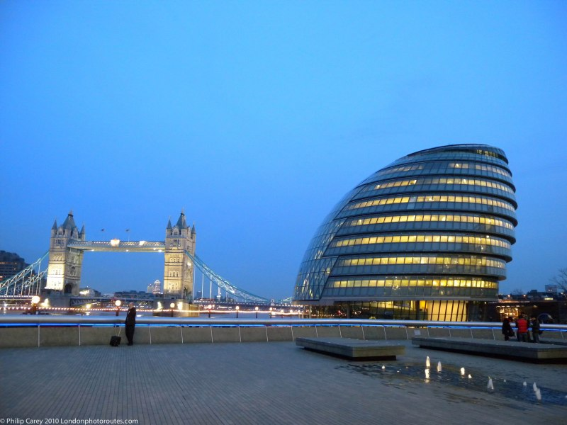 City Hall and Tower Bridge from the Queens Walk