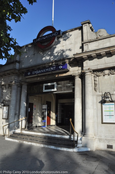 Embankment Station - river side entrance