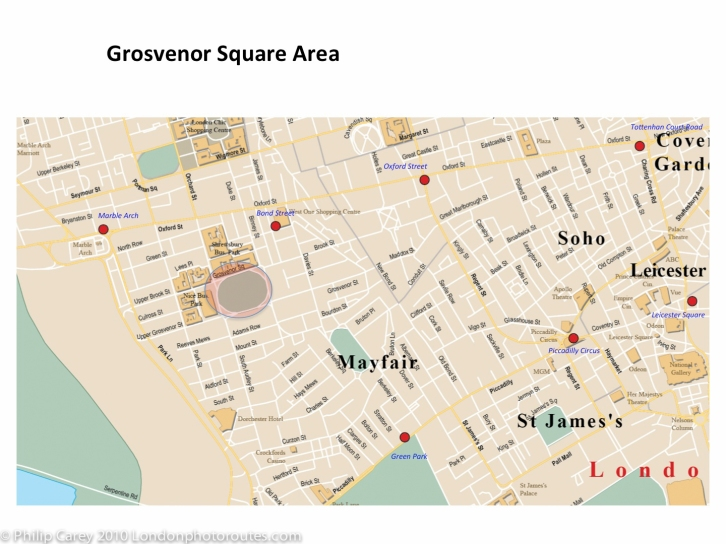 Grosvenor square map
