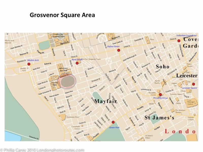 Grosvenor square map