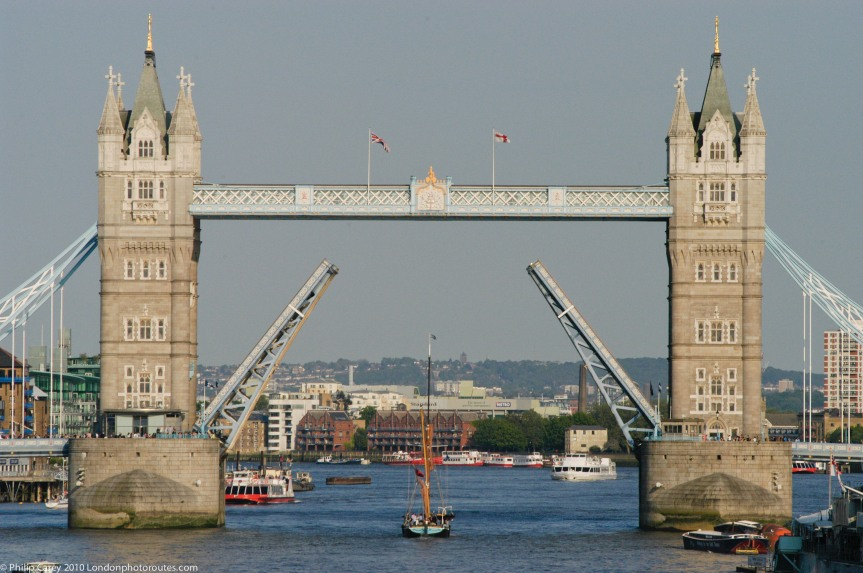 Tower Bridge Opening - taken from London Bridge