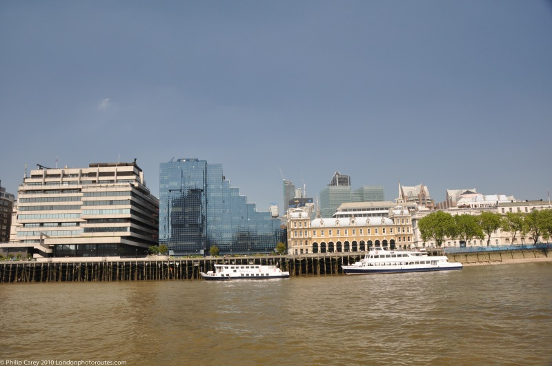 View from Queens Walk between London Bridge and Hays Gallery