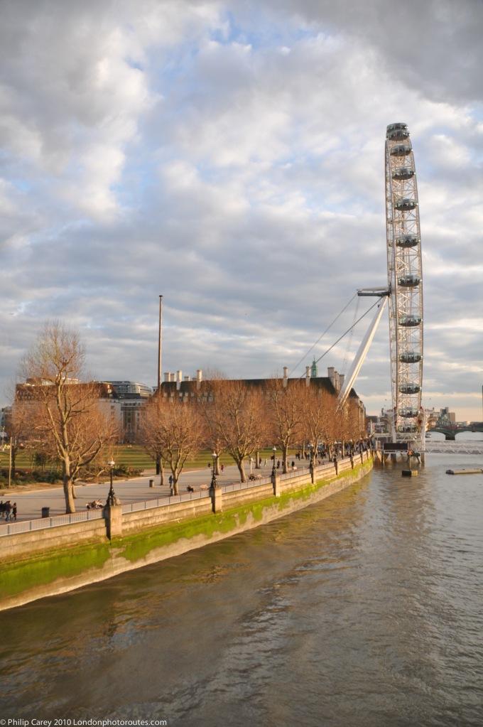 London Eye from Golden Jubilee Bridge -