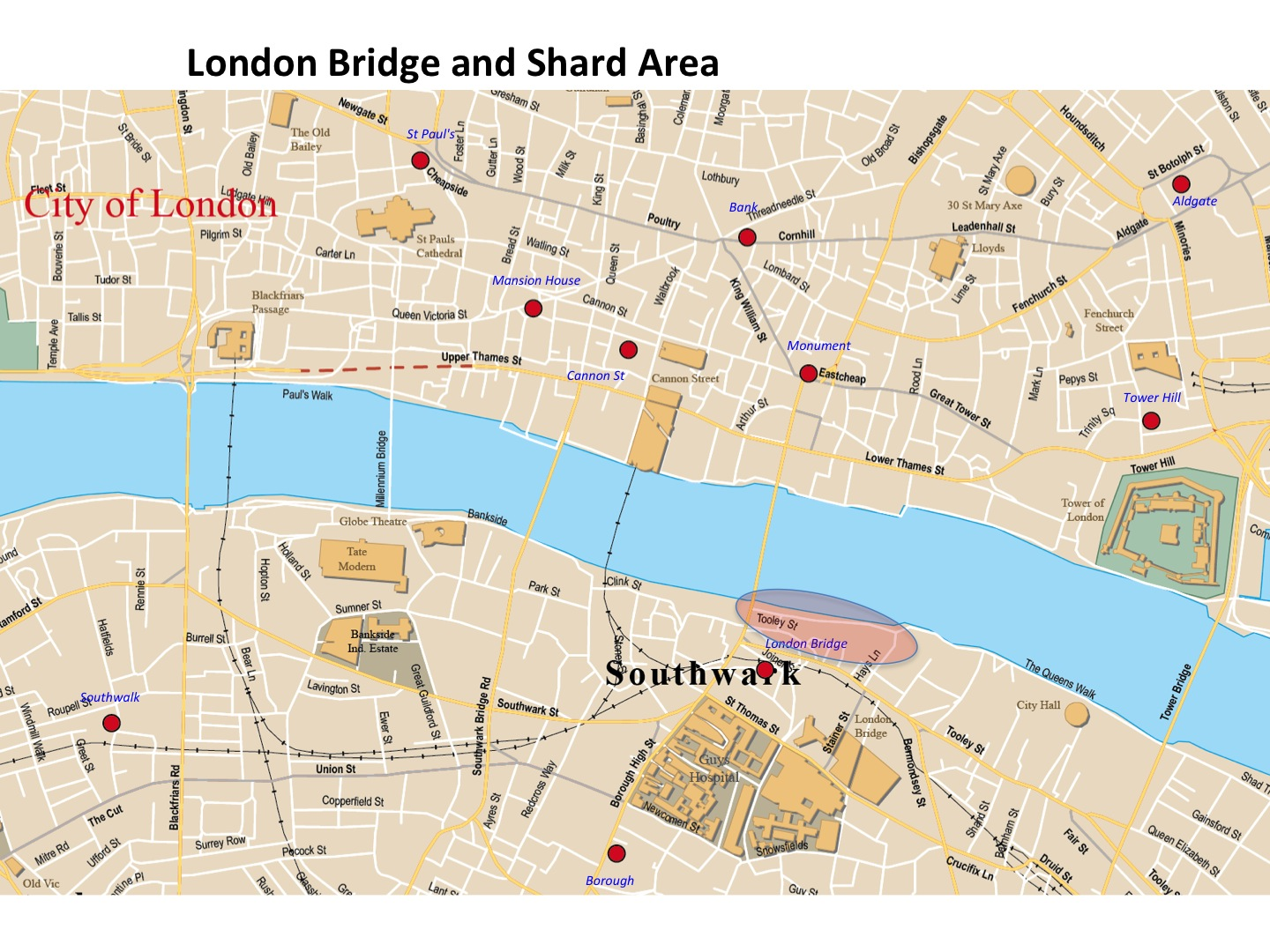 London Bridge Map.Map London Bridge And The Shard Building London Photo Areas And Routes