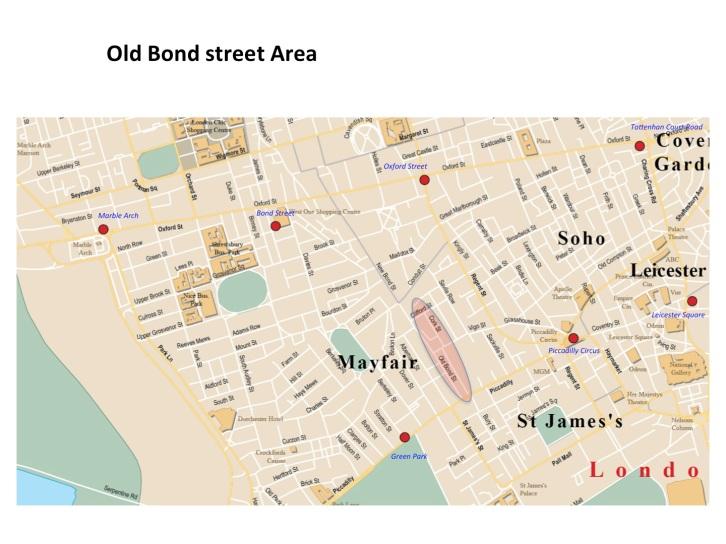 Map Old Bond Street
