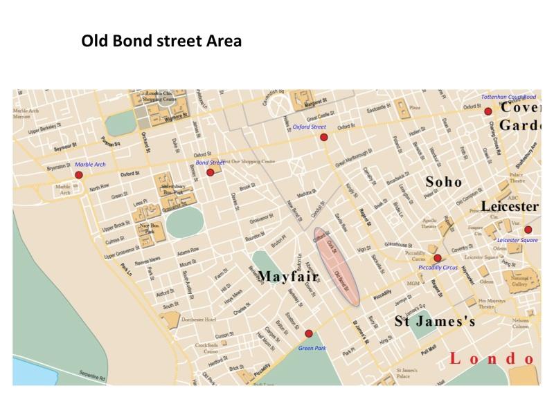 Map Bond Street