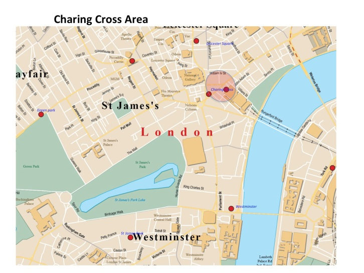 Charing Cross Area Map