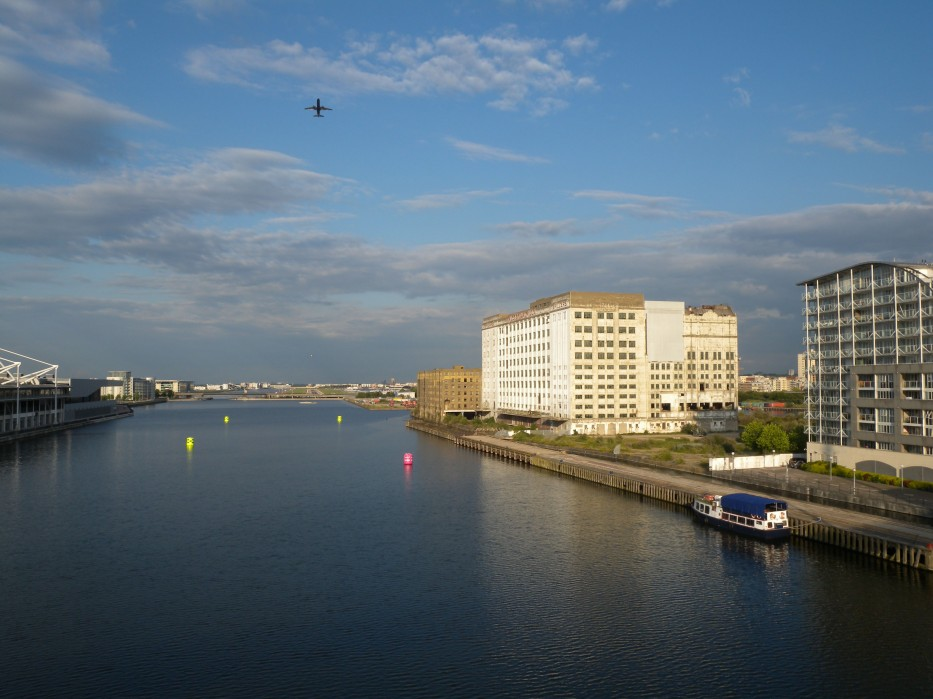 Royal Victoria Dock - Looking towards east and City Airport