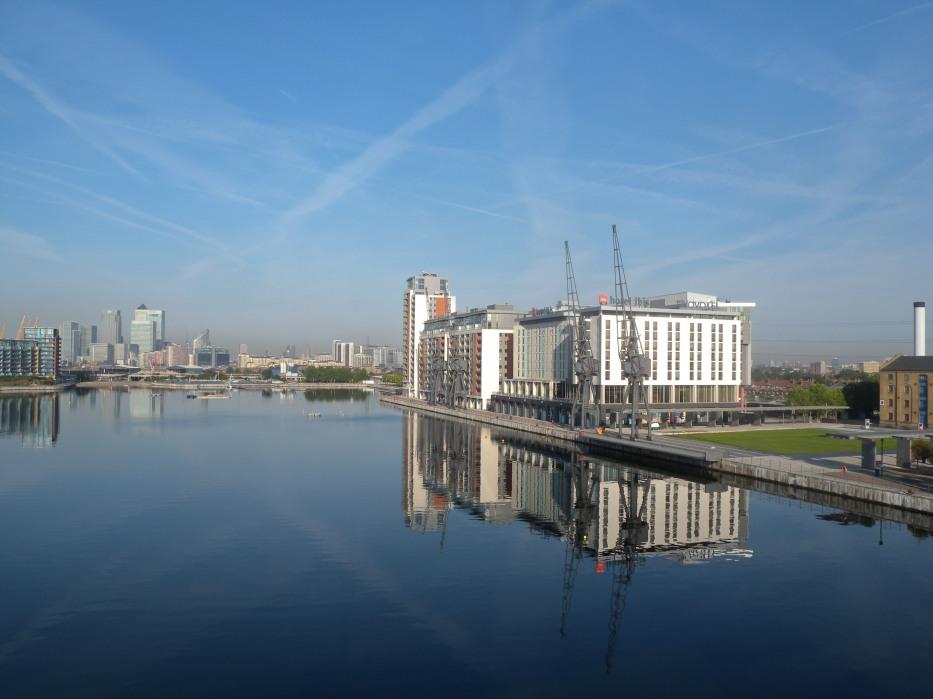 Victoria Dock towards Docklands