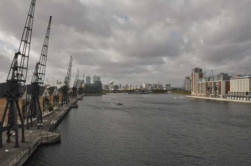 Bridge view across Dock and towards Docklands