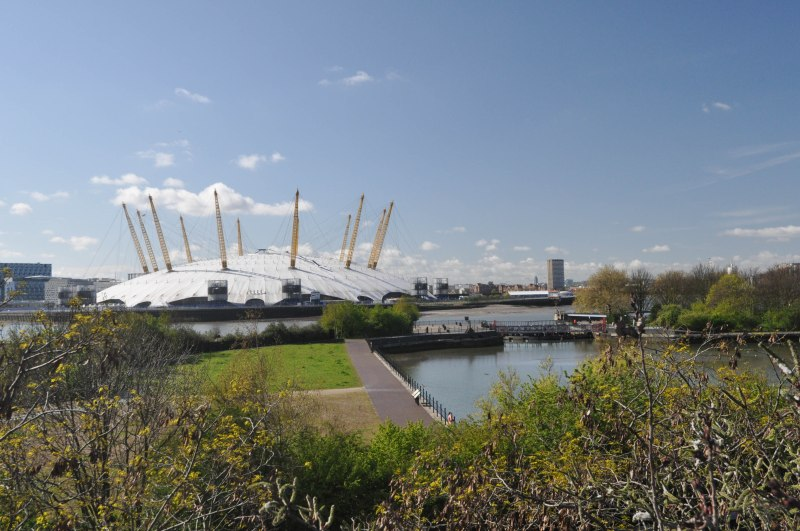 O2 Arena view from Lower Lee Crossing