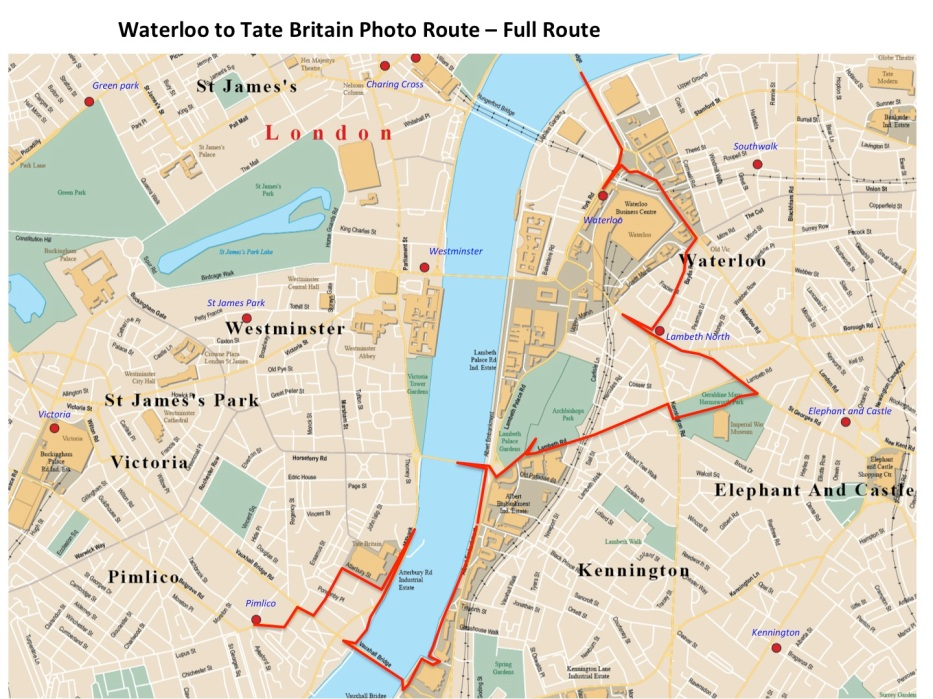 Waterloo to tate ful route