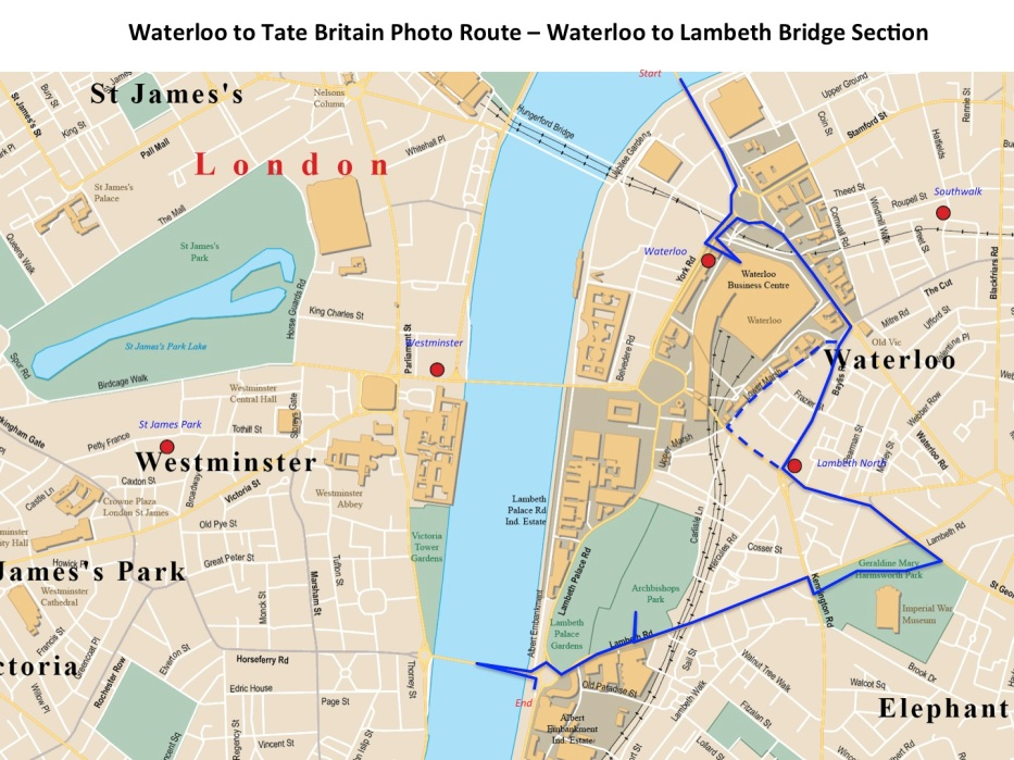 Waterloo to tate part 1 to Lambeth bridge
