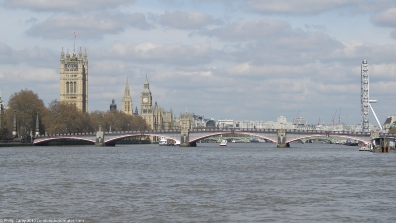 Looking back towards Westminster from Albert Embankment
