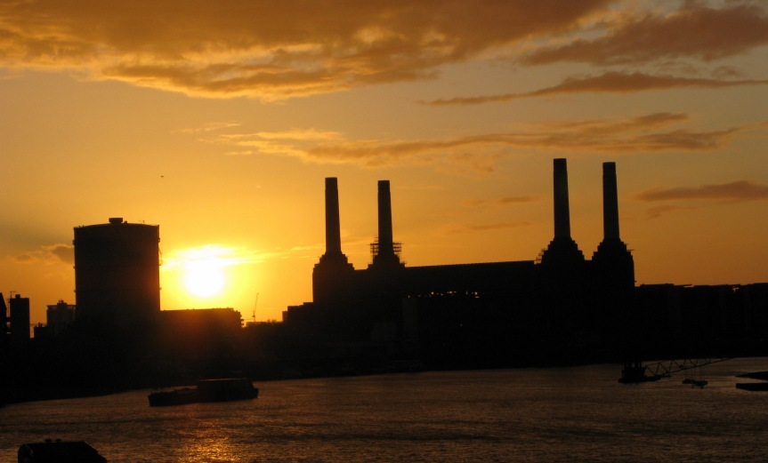 Battersea Power Station from Vauxhall Bridge - Sunset