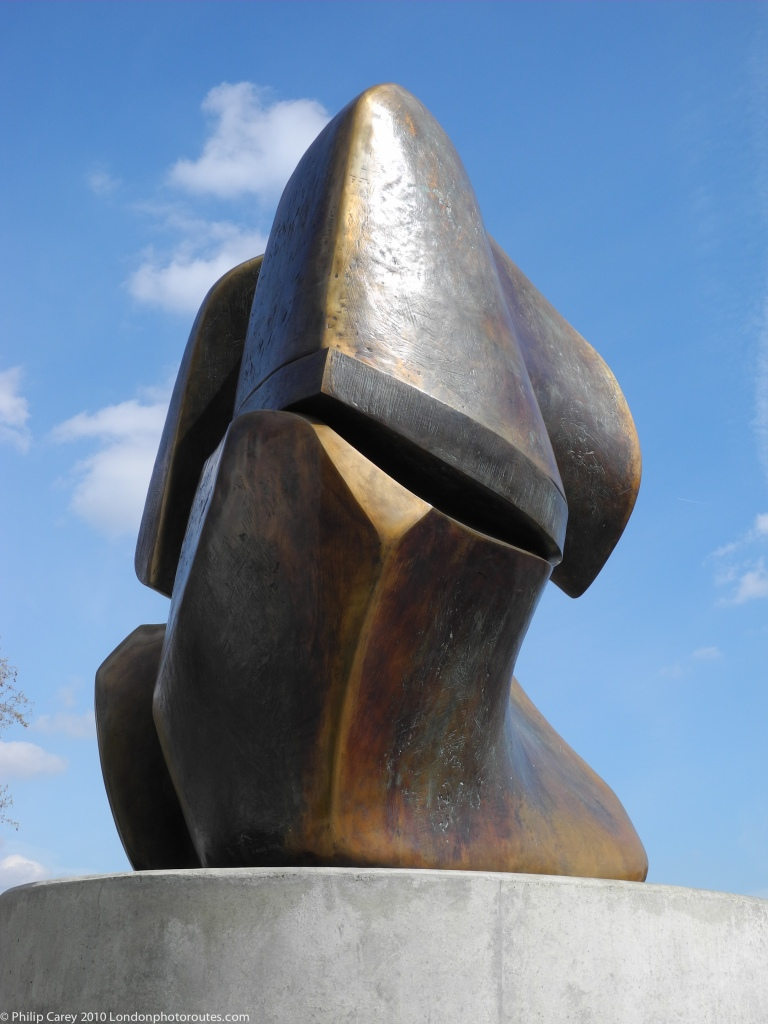 "Henry Moore ""Locking Piece"" Statue"