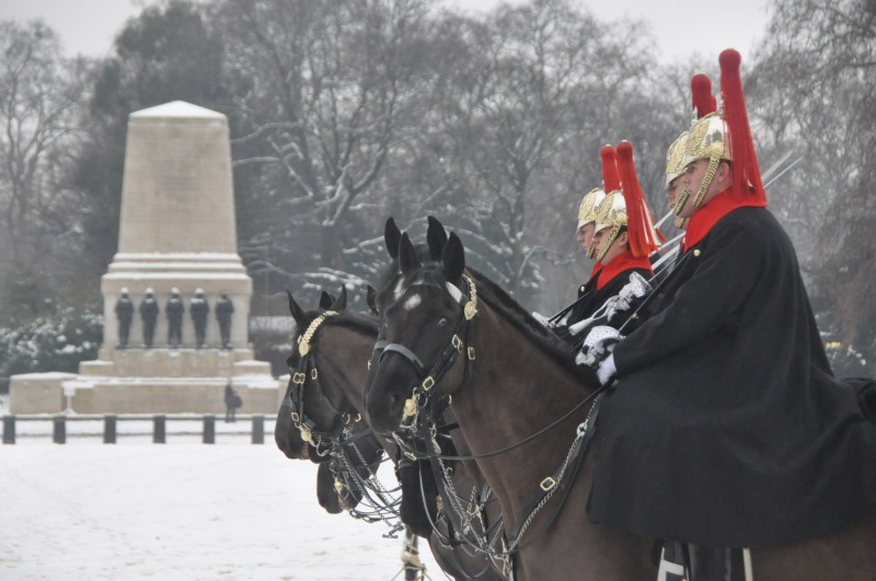 Snow in Horse Guards parade
