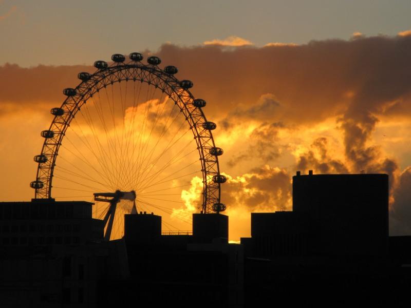 Winter Sunset - London Eye
