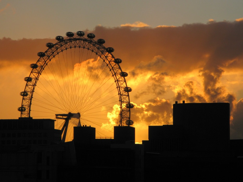 Winter Sunset - London Eye